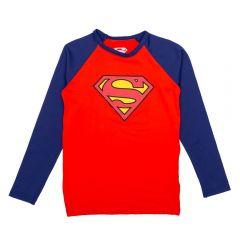 Blusa de 4 a 10 Anos FPS UV 50+ Superman DC Comics Tomate