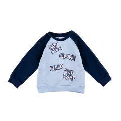Blusa de Bebê Moletom Raglan Rovitex Blue