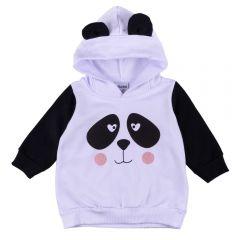 Blusão de Bebê Moletom Felpado Panda Fakini