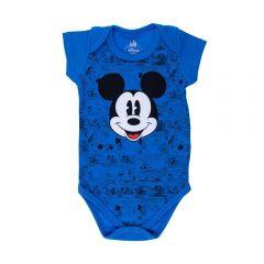 Body de Bebê Mickey Disney Cobalto