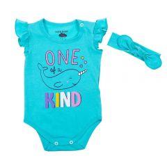 Body de Bebê Cotton com Tiara Yoyo Baby