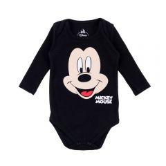Body de Bebê do Mickey Disney Preto