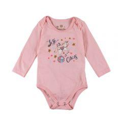 Body de Bebê em Malha com Estampa Brandili Sft.Peach