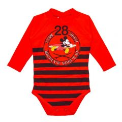 Body de Bebê FPS UV 50+ Mickey Disney Tomate