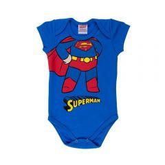 Body de Bebê Liga da Justiça Dc Comics Cobalto
