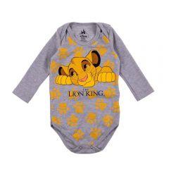 Body de Bebê Lion King Disney Mescla Stone