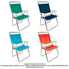 Cadeira De Alumínio Master Plus Fashion 2119 Mor - Sortido