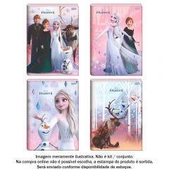 Caderno Brochura 1 Matéria 1/4 Frozen 80 Folhas Jandaia - 69200-21