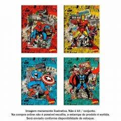 Caderno Brochura 1 Matéria 1/4 Marvel Comics 80 Folhas Foroni - 40.6844-0