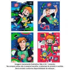 Caderno Brochura 1 Matéria Gato Galactico 80 Folhas Tilibra - 319724