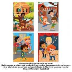 Caderno Brochura Capa Dura Sapeca 96 Folhas Menino Tilibra - 145033
