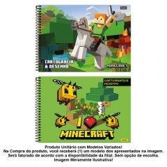 Caderno Cartografia 96 Folhas Minecraft Foroni - 33.6086-4