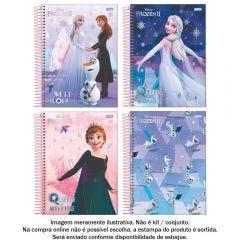 Caderno Espiral 1 Matéria 1/4 Frozen 80 Folhas Jandaia - 69202-21