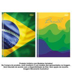 Caderno Espiral 1 Matéria Brasil 96 Folhas Tilibra - 313378