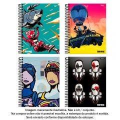 Caderno Espiral 10 Matérias College Fortnite 160 Folhas Foroni - 33.6059-7