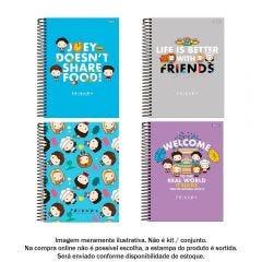 Caderno Espiral 10 Matérias College Friends 160 Folhas Foroni - 33.6393-6