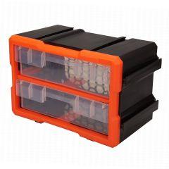 Caixa de Ferramentas Modular com 2 Gavetas - Preto