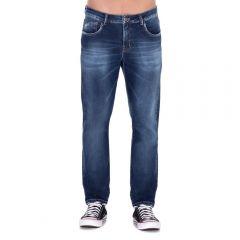 Calça Jeans com Marcações Thing Blue
