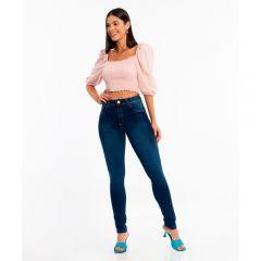 Calça Skinny Jeans Cintura Média Biotipo Blue