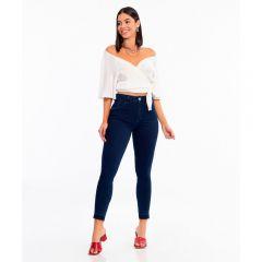 Calça Skinny Midi com Barra a Fio Biotipo Jeans