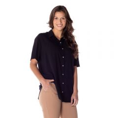 Camisa Alongada com Bolso Patrícia Foster Preto