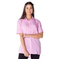 Camisa Alongada com Bolso Patrícia Foster Rosa