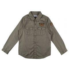 Camisa de 4 a 10 Anos Militar com Patchs Hot Dog