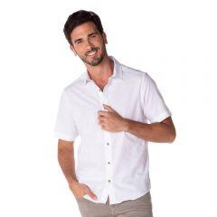 Camisa em Algodão Flame Marc Alain Branco