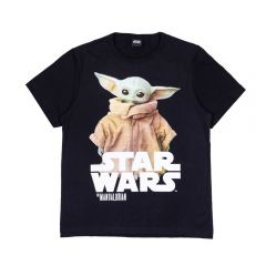 Camiseta 12 a 16 Anos Star Wars The Child Disney Preto