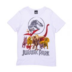 Camiseta 12 Anos do Jurassic World Malwee Branco
