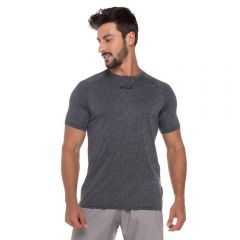 Camiseta Basic Train Melange Fila Preto Mescla