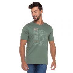 Camiseta Estampa Carros Marc Alain Verde Militar