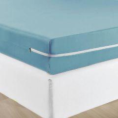Capa Protetora De Colchão Com Zíper Solteiro Solecasa - Azul