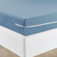 Capa Protetora De Colchão Com Zíper Casal Solecasa - Azul