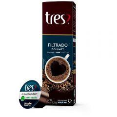 Cápsulas De Café Filtrado 75G Tres - 10 Cápsulas