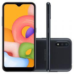 "Celular Smartphone Galaxy A01 32Gb 5,7"" Samsung - Preto"