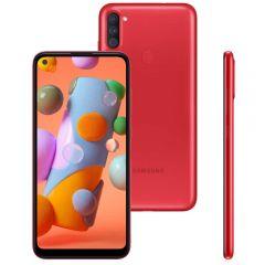 """Celular Smartphone Galaxy A11 64Gb 6,4"""" Samsung - Vermelho"""
