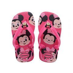 Chinelo Baby Disney Classics Havaianas - Rosa 22
