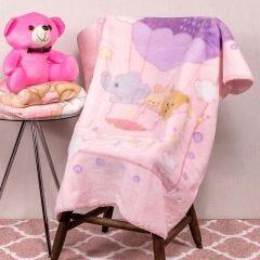 Cobertor Bebê 80x110 Raschel Estamp Yoyo Baby - Balloon Pink