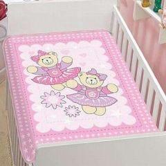 Cobertor para Bebê Anti-Alérgico Tradicional Pelo Alto - Jolitex - Rosa