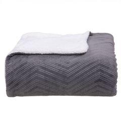 Cobertor Queen Dupla Face London- - Cimento