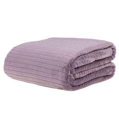 Cobertor Solteiro 1,60X2,20M Canelado - Lilas Sujo