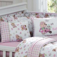Edredom Infantil 100x140cm Malha Yoyo Baby - Rosa