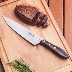 """Faca Tramontina para Carne 8"""" Inox e Cabo Vermelho Polywood - 21191/178"""