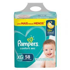 Fralda Pampers Confort Sec Tam.Xg 11 A 15Kg - 58 unidades