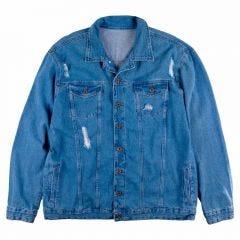 Jaqueta Jeans Masculino Plus Size Overlook