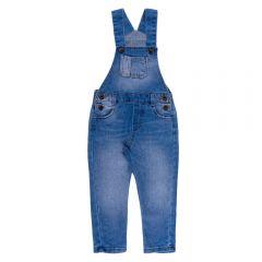 Jardineira de 1 a 3 Anos Jeans Yoyo Kids Azul