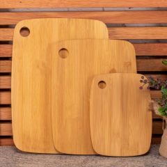 Jogo de 3 Tábuas de Corte Finecasa - Bambu