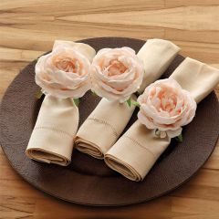 Jogo de Argolas para Guardanapos Primavera - Rosa Nude