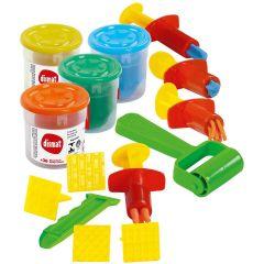 Kit 4 Potes de Massinha com Acessórios Coloridos Dismat - DIVERSOS